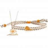 Duo maman enfant Primegioie collier et bracelet Escargot (or jaune 375°) - leBebé