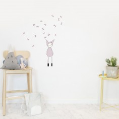 Stickers muraux Lapin rose