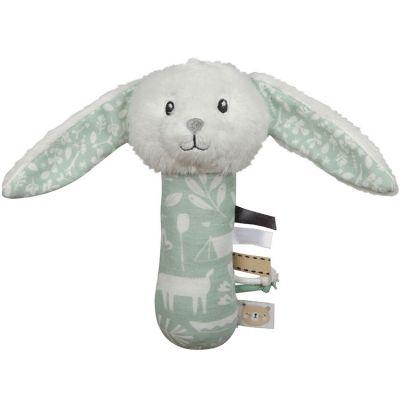 Hochet peluche lapin Adventure mint (21 cm)  par Little Dutch