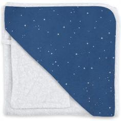Cape de bain et gant constellations Stary bleu jean (90 x 90 cm)