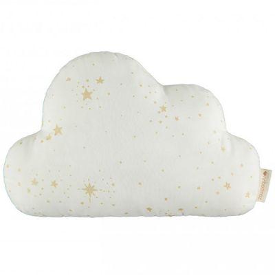 Coussin nuage Gold stella blanc (24 x 38 cm)  par Nobodinoz