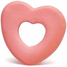 Anneau de dentition latex d'hévéa coeur corail
