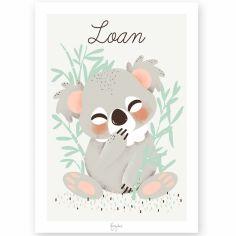 Affiche A3 Les Animignons le koala (personnalisable)