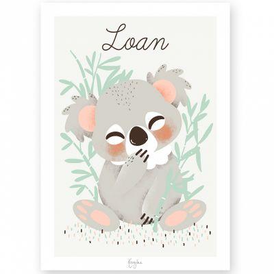 Affiche A3 Les Animignons le koala (personnalisable)  par Kanzilue