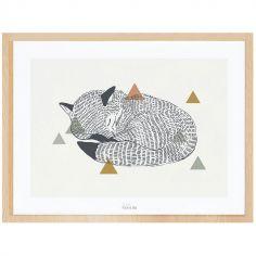 Affiche encadrée le renard (30 x 40 cm)