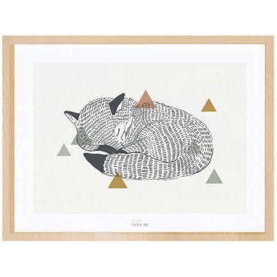 Affiche encadrée le renard (30 x 40 cm)  par Lilipinso