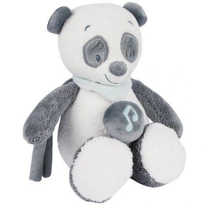 Mini doudou musical à suspendre panda Loulou (24 cm) Nattou