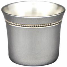 Coquetier évasé perles personnalisable (Métal argenté)