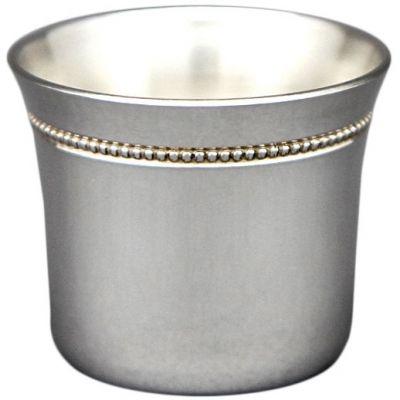 Coquetier évasé perles personnalisable (Métal argenté)  par Aubry Cadoret