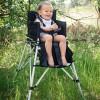 Chaise haute pliante nomade One2Stay rouge  par FemStar