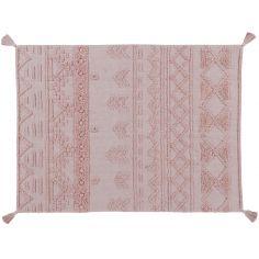 Tapis lavable Tribu vintage rose nude (120 x 160 cm)