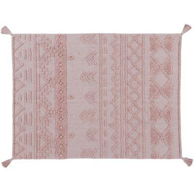 Tapis lavable Tribu vintage rose nude (120 x 160 cm)  par Lorena Canals