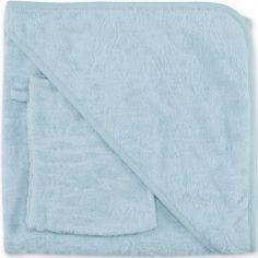 Cape de bain Idyle bleu gris Breeze Terry (90 x 90 cm)