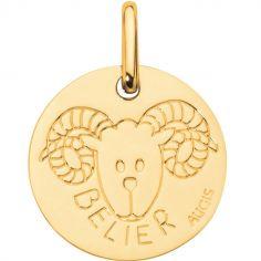 Médaille Zodiaque bélier 14 mm (or jaune 750°)