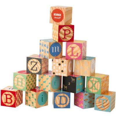 Cubes empilables Kubix Alphabet (16 cubes)  par Janod