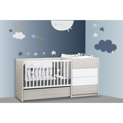 Stickers étoiles et nuage Merlin (60 x 80 cm) Sauthon Baby Déco
