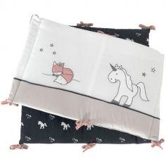 Tour de lit Ophélia la licorne (pour lits 60 x 120 et 70 x 140 cm)