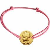 Bracelet cordon enfant Câline (or jaune 375°) - La Fée Galipette