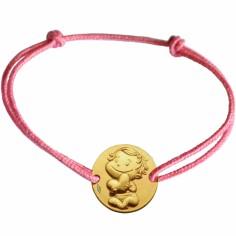 Bracelet cordon enfant Câline (or jaune 375°)