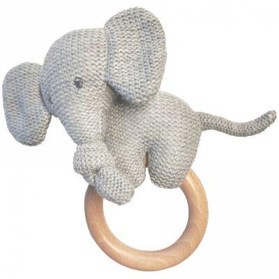 Anneau de dentition en bois Tembo l'éléphant  par Nattou
