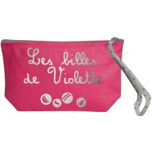 Pochette à billes rose (personnalisable)  par Les Griottes