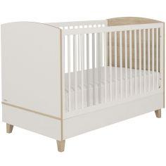 Lit bébé évolutif blanc Lora (70 x 140 cm)