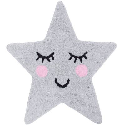 Tapis Sweet Dreams grey star (70 x 67 cm)