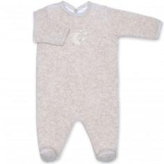 Pyjama léger terry Bmini beige à points jerry (6-12 mois : 67 à 74 cm)