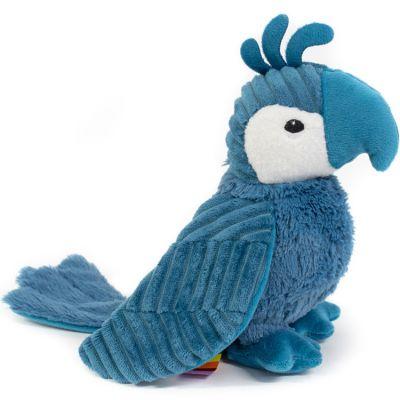 Peluche Les Ptipotos Répétou le perroquet bleu (22 cm)  par Les Déglingos