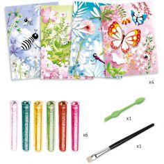 Kit de tableaux à pailleter Papillons