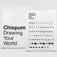 Stickers muraux magnétiques Alphabet