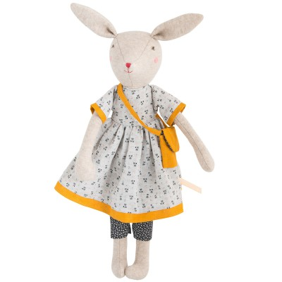 Peluche Maman lapin Rose Famille Mirabelle (40 cm) Moulin Roty