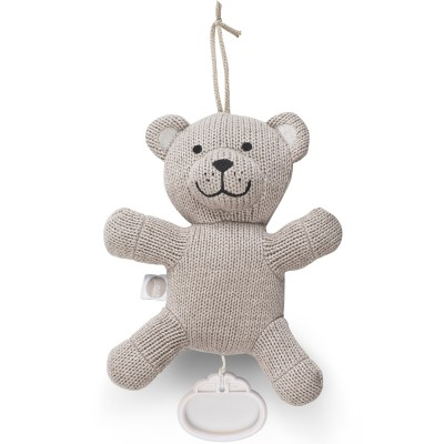 Peluche musicale Natural knit ours taupe clair (19 cm) Jollein