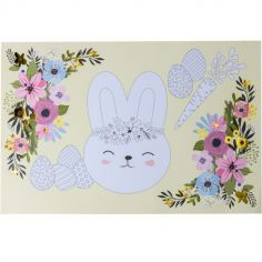 Lot de 6 sets de table à colorier Lapin Hello Spring