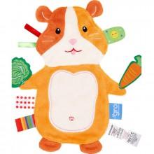 Doudou plat étiquettes Friends hamster  par The Gro Company