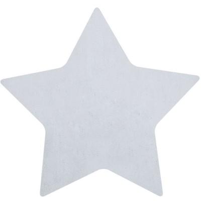 Tapis coton forme étoile coloris gris (100 x 95 cm)