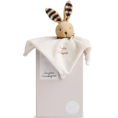 Doudou plat L'Original lapin beige (25 cm) Doudou et Compagnie