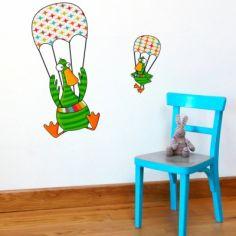 Stickers muraux Canard en parachute C'est haut