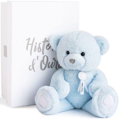 Peluche ours Charms bleu clair (24 cm)  par Histoire d'Ours