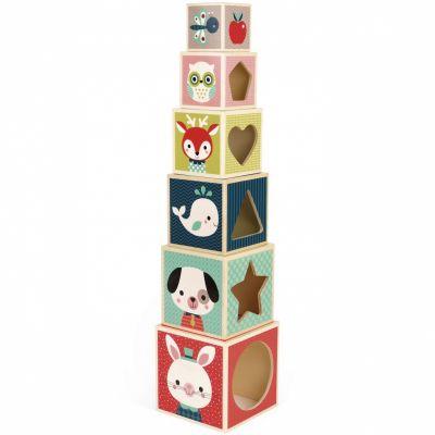 Cubes empilables baby forest (6 cubes)  par Janod