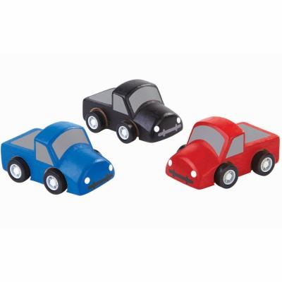 Lot de 3 mini camions  par Plan Toys