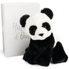 Coffret peluche Panda Les animaux des grands espaces (23 cm)