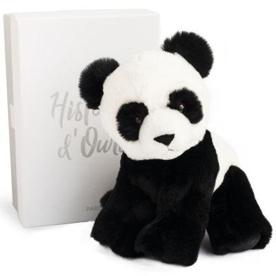 Coffret peluche Panda Les animaux des grands espaces (23 cm)  par Histoire d'Ours