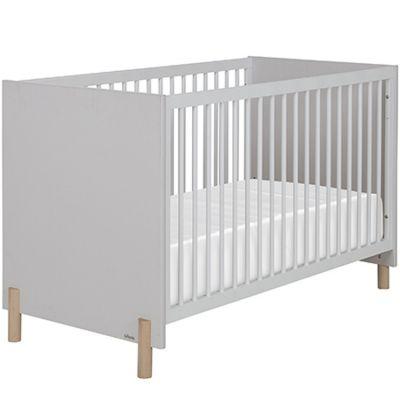 Lit bébé évolutif gris clair sablé Eliott (70 x 140 cm)  par Galipette