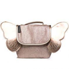 Cartable maternelle pailleté Papillon cuivre