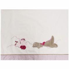 Drap de lit + taie d'oreiller Victoria et Lucie (120 x 180 cm)