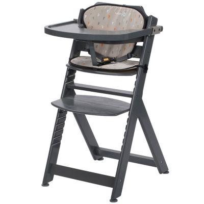Chaise haute évolutive Timba grise avec coussin Warm Grey  par Safety 1st