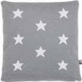 Coussin Star gris et blanc (40 x 40 cm) - Baby's Only