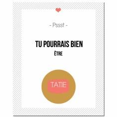 Carte à gratter Annonce de grossesse Version Encadrée Tatie