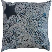 Petit coussin Liberty bleu (23 x 23 cm)  - Le petit rien